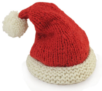5 Ply Knitting Patterns : Santa Hat KnitKit - Morehouse Farm