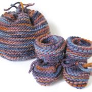 Variegated Baby Hat & Booties Set