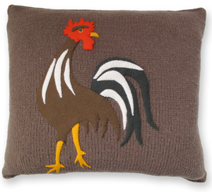 Colorful Rooster Pillow