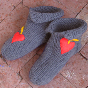 Heart-to-Heart Valentine Slippers