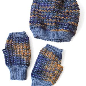 Abela Hat & Fingerless Mittens