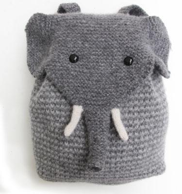 Elephant Backpack Knitkit Morehouse Farm