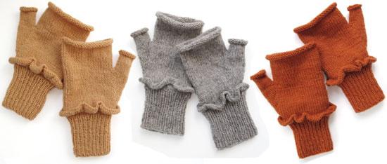 Fingerless Mushroom Gloves