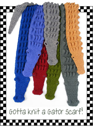 Alligator Scarf Pdf Pattern Morehouse Farm