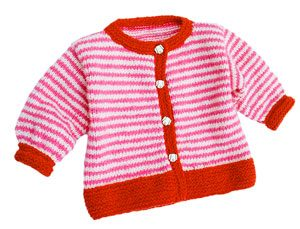 Candy-Striped Baby Jacket