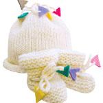 UltraSoft Baby Hat & Booties Set