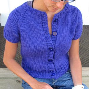 Short-Sleeved Cardi KnitKit (Size Large/Extra Large)