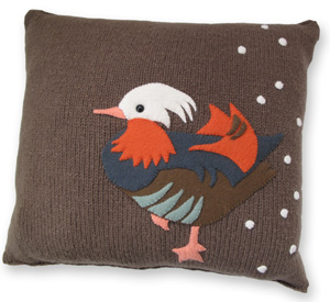 Mandarin Duck Pillow PDF Pattern