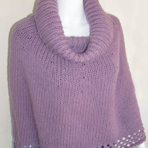 Cowl Neck Poncho KnitKit