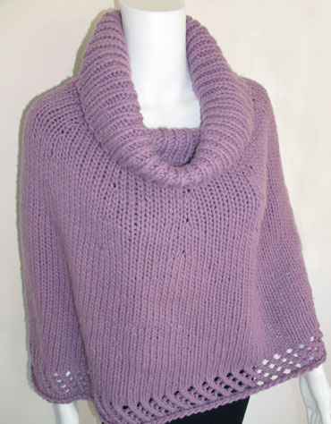 Knitting Pattern For Poncho With Cowl Neck : Cowl Neck Poncho KnitKit - Morehouse Farm