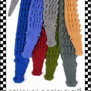 Alligator Scarf KnitKit 1