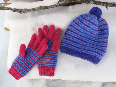 WinterBlues Duo PDF Pattern (Hat and Gloves)
