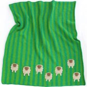 Sheep Meadow Baby Blanket KnitKit 1