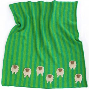 Sheep Meadow Baby Blanket KnitKit