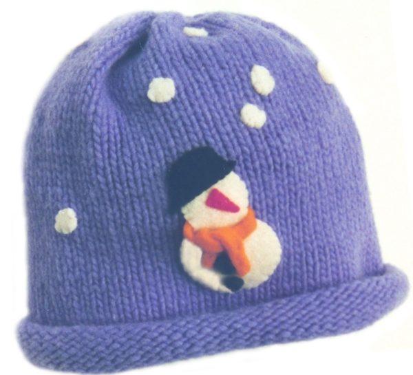 Knitting Pattern For Baby Snowman Hat : Snowman Hat PDF Pattern - Morehouse Farm
