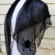 BlackSpider Shawl PDF Pattern