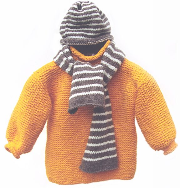 Striped Hat and Scarf PDF Pattern 1