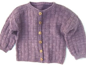 Basketweave Cardigan for Children KnitKit (Size 2)