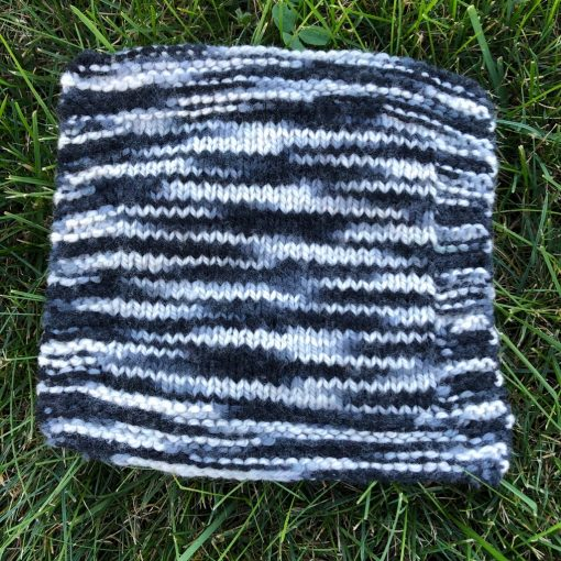 swatch of black and white colorway