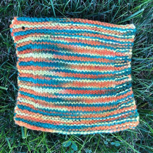 swatch of saffron colorway