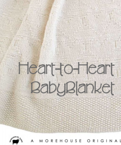 Heart to Heart Baby Blanket close-up