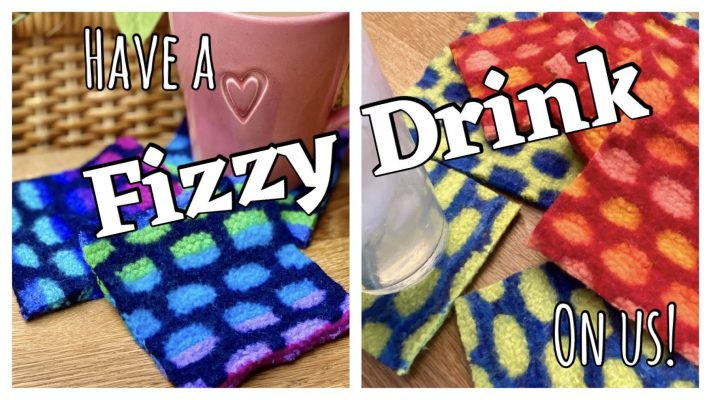 Fizzy Drinks coasters with glasses